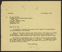 Letter to Dr. J.M. de Moor from J.W.C. Turner, 31 December, 1941