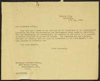 Letter to Prodessor Sellin, 19th May, 1944