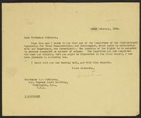 Letter to Professor J.J. Robinson from J.W.C. Turner, 23rd February, 1944