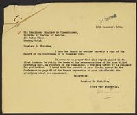 Letter to Monsieur de Vleesehouwer from J.W.C. Turner, 29th December, 1941