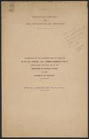 Cover of International Commission for Penal Reconstruction and Development Proceedings 14th November, 1941