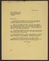 Letter to Arnold McNair from J.W.C. Turner, 21 May, 1942