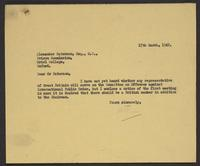 Letter to Alexander Paterson from J.W.C. Turner, 17th March, 1942