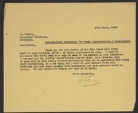 Letter to Arnold McNair from J.W.C. Turner, 27th March, 1942