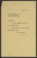 Letter to Arnold McNair from J.W.C. Turner, 7 May, 1942