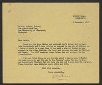Letter to A. D. McNair from J.W.C. Turner, 2 November, 1942