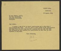 Letter to A. D. McNair from J.W.C. Turner, 20 August, 1942