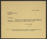 Letter to Arnold McNair from J.W.C. Turner, 15th June, 1942