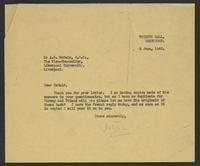 Letter to Arnold McNair from J.W.C. Turner, 3 June, 1942