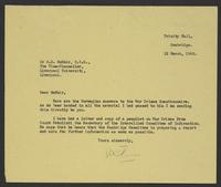 Letter to A.D. McNair from J.W.C. Turner, 12 March, 1943