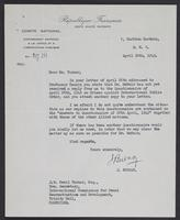 Letter to J.W.C. Turner from J. Burnay, April 30th, 1943