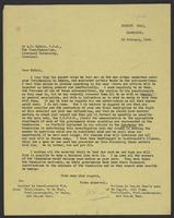 Letter to A.D. McNair from J.W.C. Turner, 16 February, 1943