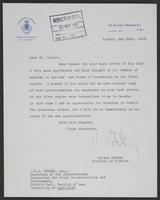 Letter to J.W.C. Turner from Victor Bodson, May 24th 1943