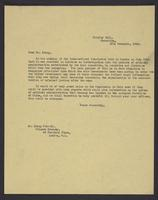 Letter to Dr. Liang, 12th November, 1943