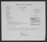 Letter to J.W.C. Turner from L. Zelmanovits, June 5th, 1944
