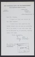 Letter to J.W.C. Turner from Terje Wold, November 19th, 1943