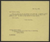 Letter to Monsieur Bodson, 25th May, 1943