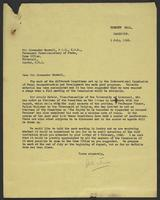 Letter to Alexander Maxwell from J.W.C. Turner, 1 July, 1943