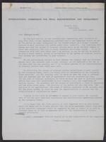 Letter to Monsieur Burnay, 12th November, 1943