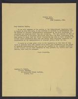 Letter to Monsieur Teplov, 12th November, 1943