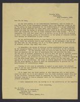 Letter to Dr. de Moor, 22nd November, 1943