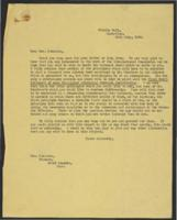 Correspondence between J.W.C. Turner and Madeline J. Robinson, July 1943