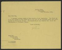 Letter to Miss Fry from J.W.C. Turner, 23rd February, 1944