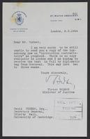 Letter to J.W.C. Turner from Victor Bodson, 2.3.1944