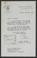 Letter to J.W.C. Turner from Victor Bodson, May 18, 1944