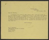 Letter to Dr. J. Stransky from J.W.C. Turner, 24th January, 1944