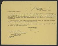 Letter to Monsieur Golstein from J.W.C. Turner, 23rd February, 1944