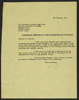 Letter to Terje Wold from J.W.C. Turner, 6th February 1942