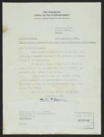 Letter to Professor Turner from Peter P. Stabell, 24th December, 1941