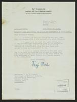 Letter to Professor Turner from Terje Wold, 24th December, 1941