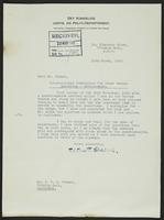 Letter to Mr. Turner from Peter P. Stabell, 10th March, 1943