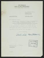 Letter to Professor Turner signed by Andreas Aulie and Peter P. Stabell, 14th May, 1942