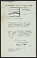 Letter to Professor Turner from Peter P. Stabell, 26th June, 1942