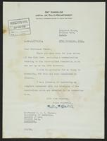 Letter to Professor Turner from Peter P. Stabell, 27th November, 1941