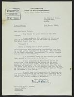 Letter to Professor Turner from Peter P. Stabell, 21st March, 1942
