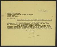 Letter to Mr. Stabell from J.W.C. Turner, 24th March 1942