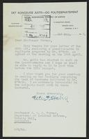 Letter to Professor Turner from Peter P. Stabell, 2nd May, 1942