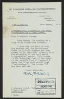 Letter to Professor Turner from Peter P. Stabell, 25th March, 1942