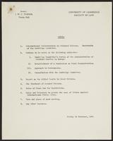 Agenda for and letter concerning the International Commission for Penal Reconstruction and Development conference, page 2