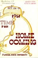 1951 Homecoming Program