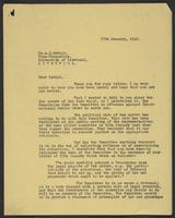 Letter to Dr. A.D. McNair from J.W.C. Turner, 27th January, 1942
