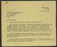 Correspondence between J.W.C. Turner and Alexander Paterson, Spring 1943