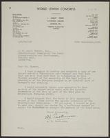 Letter to J.W.C. Turner from A.L. Easterman, 29th September, 1943