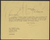 Letter to A.L. Easterman from J.W.C. Turner, 6th January, 1944
