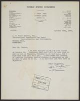 Letter to J.W.C. Turner from A.L. Easterman, October 29th, 1942