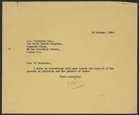 Letter to A.L. Easterman from J.W.C. Turner, 19 October, 1944